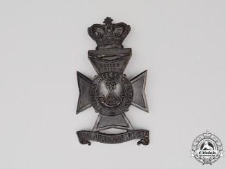 A Victoria Era 3rd Battalion, Victoria Rifles of Canada Helmet Plate, c. 1879-1904
