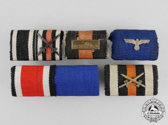 Five First and Second War German Medal Ribbon Bars