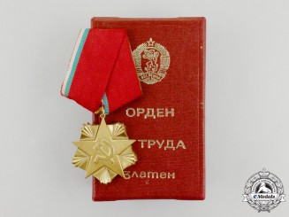 A Socialist Bulgaria Order of Labour; 1st Class Variation II with Case