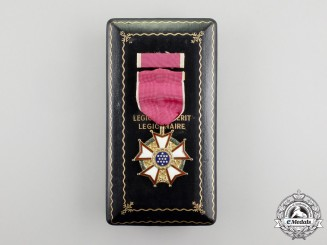 A Second War  American Legion of Merit, Legionnaire Grade, Named to John F. McCarthy, Cased