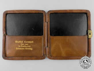 Hermann Göring Presentation, Carinhall Billfold Awarded to Building Foremen