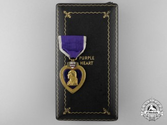 An American Second War Purple Heart to Julius Dubin; 377th Infantry Regiment
