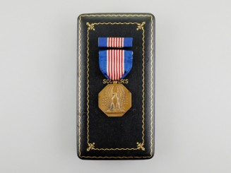 A Second War American Soldier's Medal with Case
