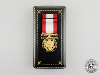 A Second War American Army Distinguished Service Medal with Case