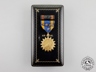 An American Air Medal with 5 Oakleaves & Numbered