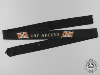 "A Hamburg-South America Line ""Cap Arcona"" Tally Ribbon"