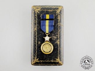 A Second War American Navy Distinguished Service Medal with Case