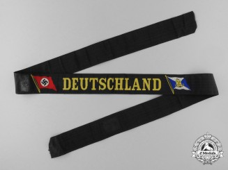 "A Hamburg America Line ""Deutschland"" Tally Ribbon"