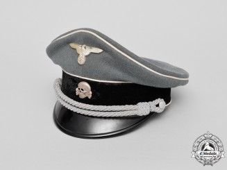 A Mint Waffen-SS Officer's Private Purchase Visor Cap by W. Welhausen