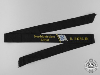 "A North German Lloyd (AKA Bremen Line) ""D. Berlin"" Tally Ribbon"