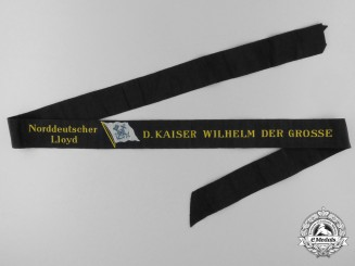 "A North German Lloyd (AKA Bremen Line) ""D. Kaiser Wilhelm der Grosse"" Tally Ribbon"