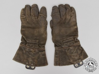 A Set of Heated Luftwaffe Pilot's Leather Gloves by Nökel & Co. Dated November 1940