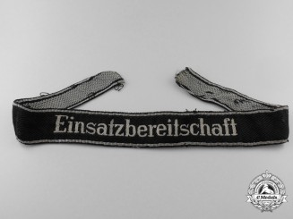 An NSKK Emergency Action Unit Personnel's Cufftitle