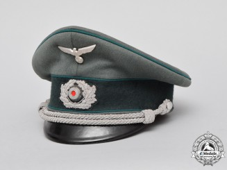 A Wehrmacht Administrative Official's Visor Cap by M. Drechsler