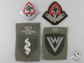 Four RAD Insignia