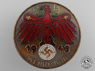 A 1943 Wehrmann Shooting Award
