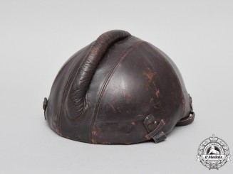 A Scarce Luftwaffe Pilot's SKK-90 Anti-Flak Flight Helmet Manufactured by Siemens