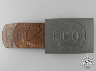 An Army Enlisted Man's Belt Buckle by GEBR. GLOERFELD LÜDENSCHEID