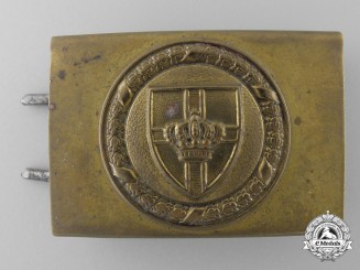 A German Scharnhorst League (Scharnhorstbund) Veteran's Belt Buckle