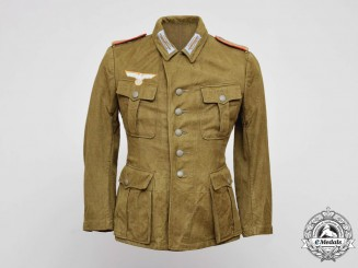 An Army (Heer) M43 Tropical Artillery Enlisted Man's Tunic