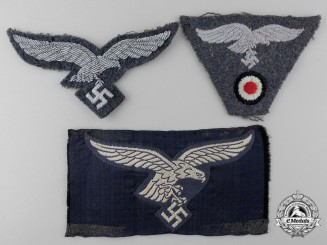 Three Luftwaffe Cloth Insignia