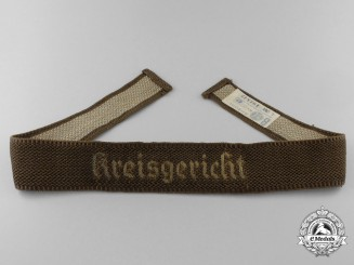 A Scarce 1939 Issue Party Court Kreisgericht (Kreis Court) Cufftitle