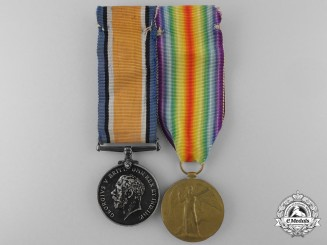 A First War Medal Pair to the 54th Infantry Battalion