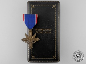 A Second War American Distinguished Flying Cross; Numbered with Case