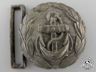 A German Line Officer's Silver Undress Belt Buckle; Published Example
