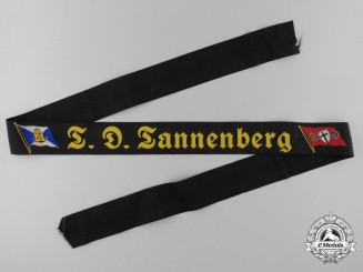 "A Hamburg America Line ""T.D. Tannenberg"" Tally Ribbon"