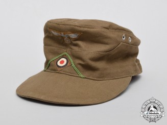 A Second War German DAK Panzergrenadier Field Cap
