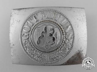 A Post-1950 North Rhine-Westfalen Fire Defence Enlisted Man's Belt Buckle