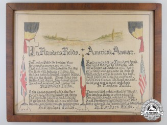 In Flanders Fields; America's Answer Certificate