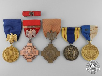 Five State of Connecticut Service Medals