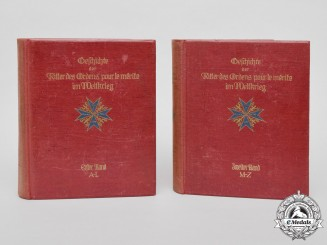 "A Set of ""History of the Knights of the Order Pour le Mérite in the Great War""; 1935 edition"