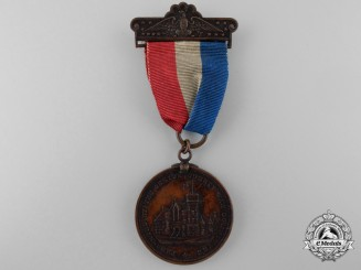 An 1898 New York State Oneida County Spanish-American War Medal; Named