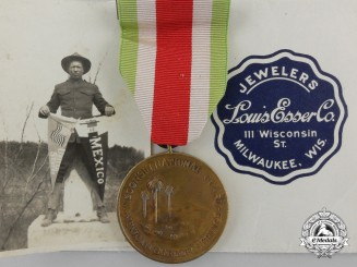 A Wisconsin Mexican Border Service Medal 1916-1917 to a KIA