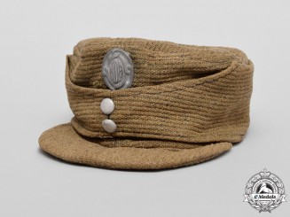 A Second War Croatian Defence Force Army Enlisted Man's Field Cap 1943-1945