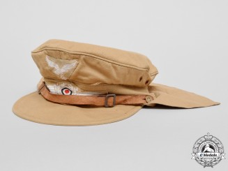 "A Luftwaffe Tropical ""Hermann Meyer"" Type EM's Service Cap"