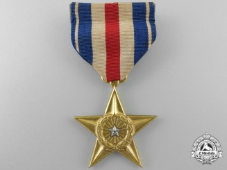 An American Second War Silver Star; Numbered