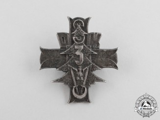Poland. A 3rd Carpathian Rifle Division Badge in Silver