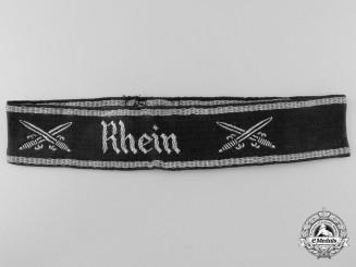 A Veteran's NS-RKB (Nationalsozialistischer Reichskriegerbund) Rhein Chapter Cufftitle