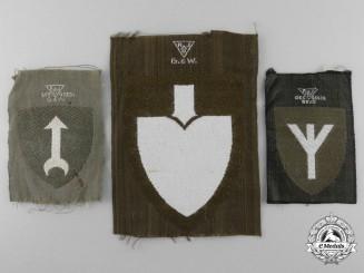 Three Reich Labour Service (Reichsarbeitsdienst = RAD) Officer's Sleeve Insignia