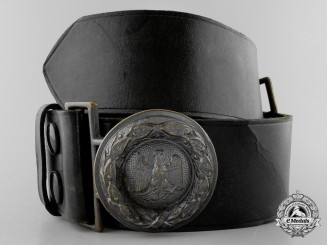 A Prussian State Forestry Service Official's Belt with Buckle
