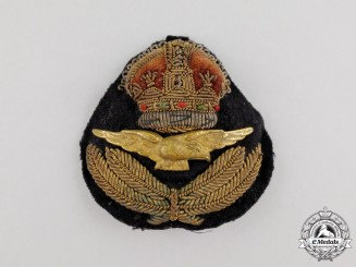 A Second War Royal Canadian Air Force (RCAF) Officer's Cap Badge