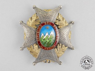 An Ecuadorian Order of Merit, 1st Class, Grand Cross Breast Star