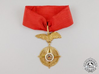 A Fine Chilean Order of Military Merit; Neck Badge in Gold