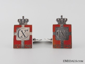 King Christian X 75th Birthday Commemorative Cufflinks