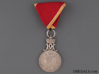 King Haakon VII Coronation Medal 1905