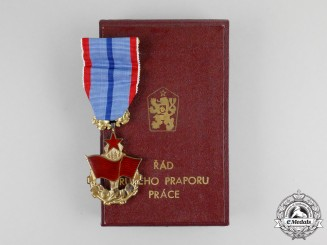 A Socialist Czech Order of the Banner of Labour, Cased